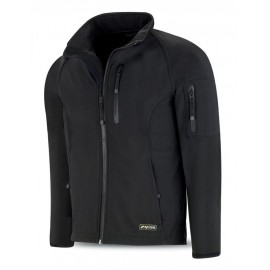 Cazadora tipo Soft- Shell en color negro Meteo